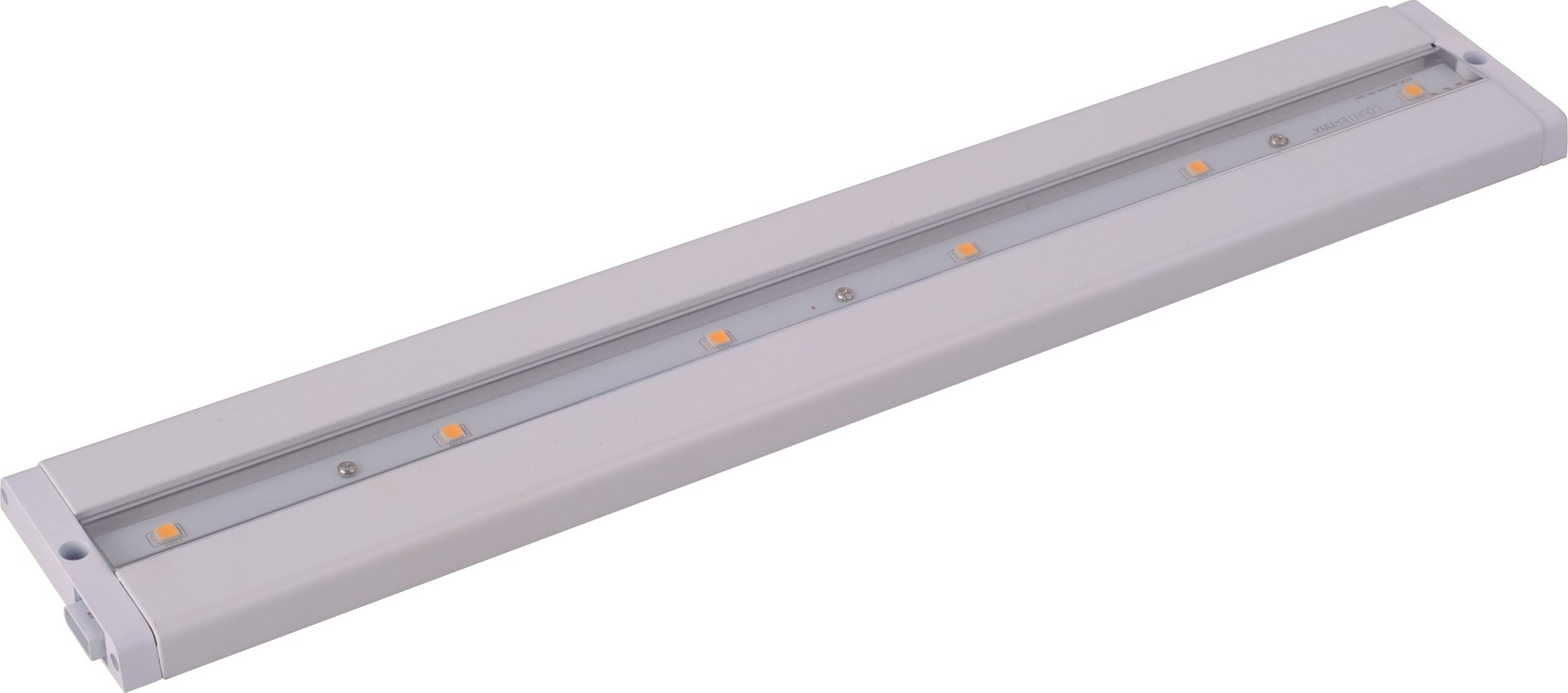 Maxim 89942WT CounterMax MX-L-LPC 18'' 6-Light LED Under Cabinet, White Finish, Clear Glass, Cree LED Bulb , 60W Max., Damp Safety Rating, Standard Dimmable, Glass Shade Material, 672 Rated Lumens