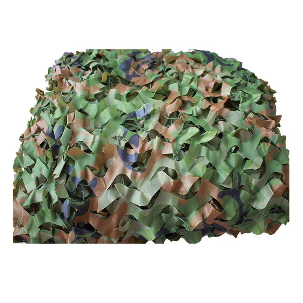 Qjifangwzh Camouflage Netze, Nylon + Polyester Camo Netting Woodland Outdoor Camping verstecken, mehrere Größen