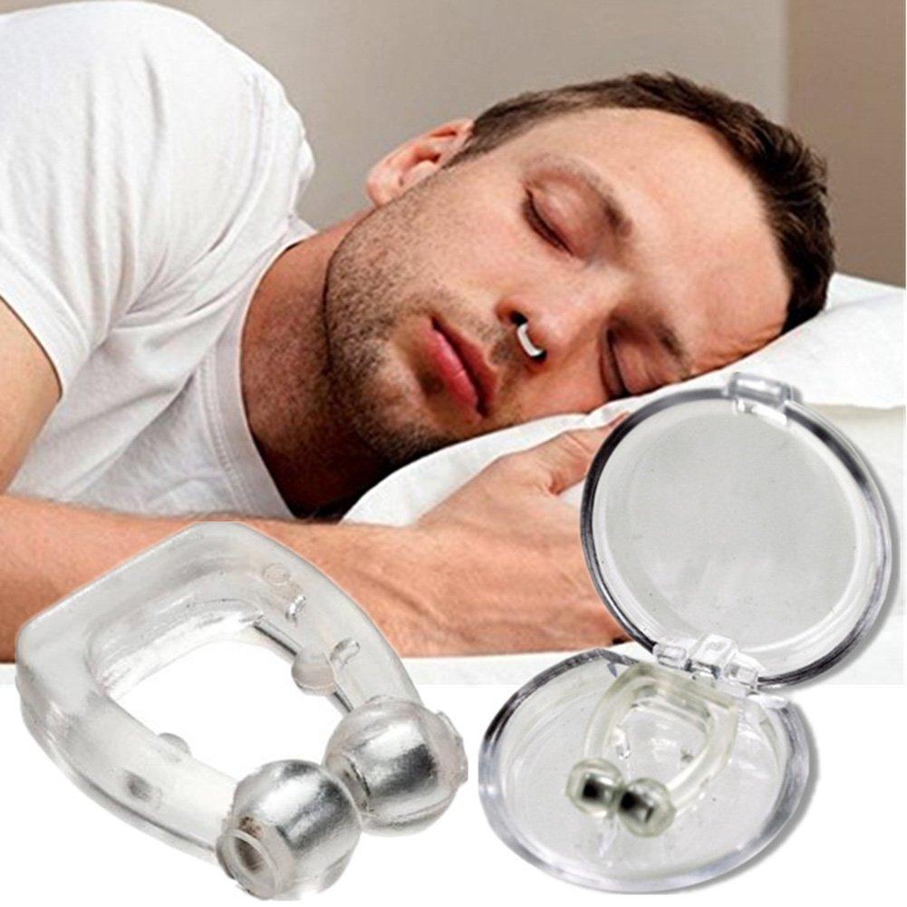 L&LQ 10 Unids/Anti Ronquido Clip De La Nariz De Silicona Stop Magnético Snoring Clips De La Nariz Anti-Ronquidos Apnea Dispositivo De Ayuda para Dormir: ...