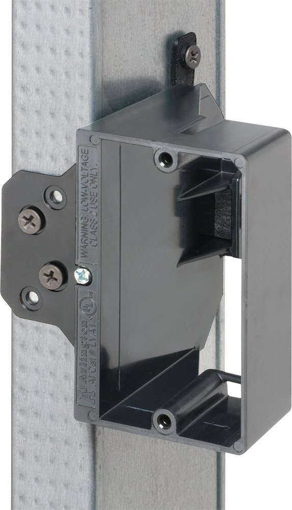 Arlington LVA1-25 Adjustable Depth Low Voltage Mounting Brackets, Fits up to 1-1/2-Inch Walls, 1-Gang, 25-Pack by Arlington Industries (Image #4)