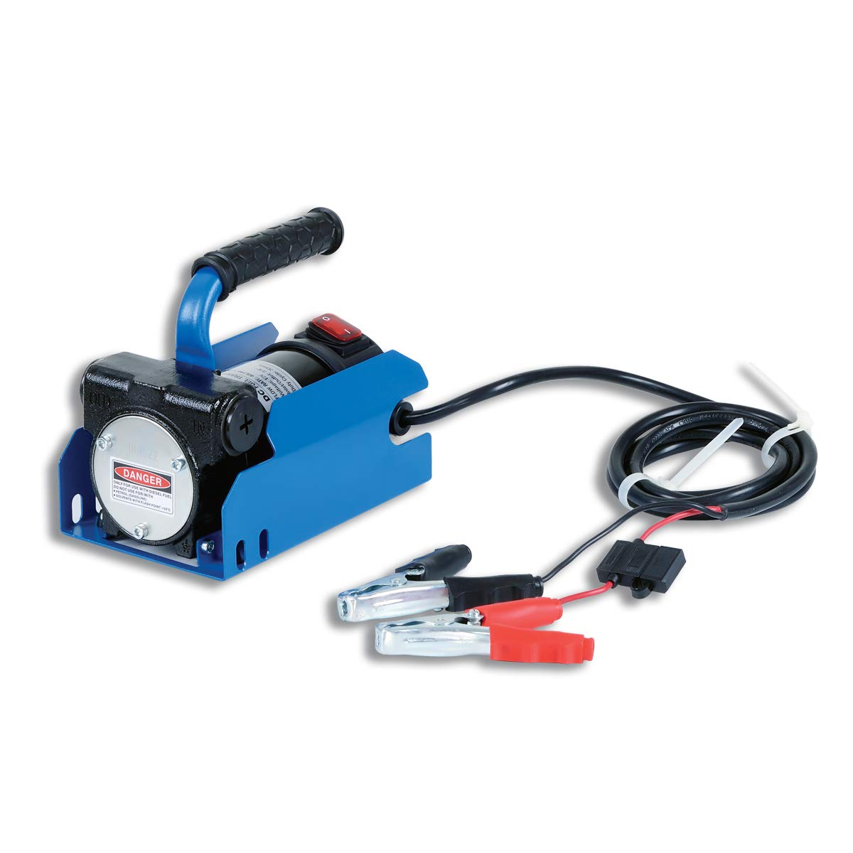 Fuelworks 20GPM Fuel Transfer Pump Kit 14' Hose, Extensible Suction Tube and Manual Nozzle, 12V 10GPM (Diesel Pump Only)