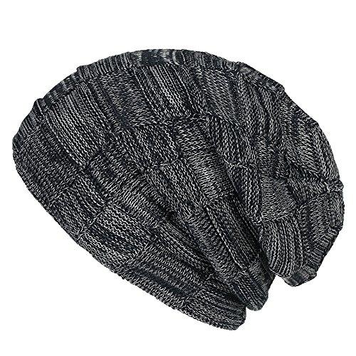 gorro invierno MASTER Hat cálido Sombrero doble Halloween Sombrero Dark invierno sombreros ceniza Navidad de punto de macho de Luz beanie cáñamo hembra engrosada 0Aq0Zw