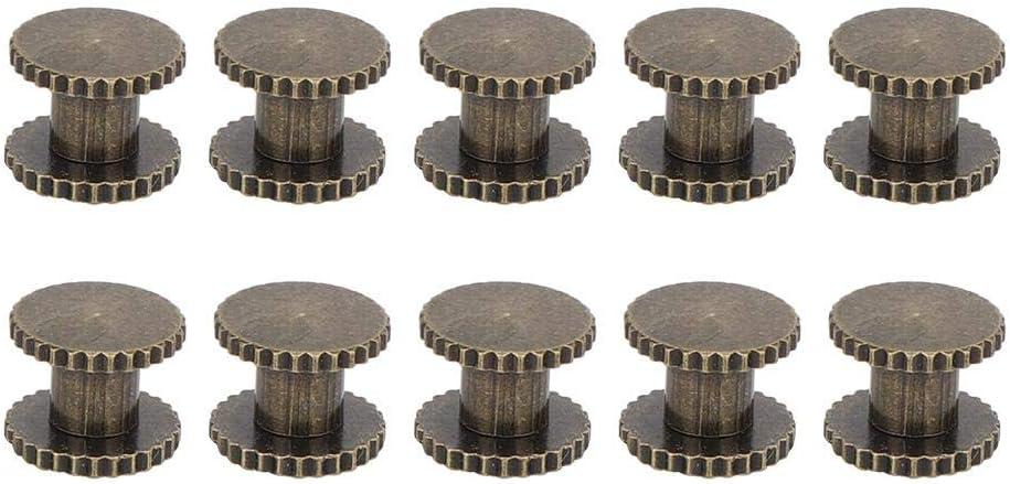 goujons /à t/ête plate en laiton goujons /à t/ête plate filet/és en laiton durables pour sac /à main portefeuille sac /à main d/écoration de bo/îtier de t/& 10 ensembles de rivets /à t/ête plate