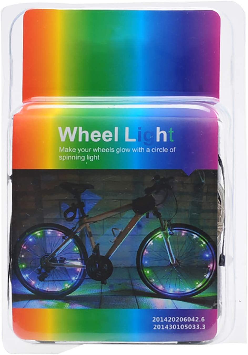 Keyian 1PSC LED Fahrrad Rad Lichter Wasserdicht f/ür Jugendliche Kinder Geschenke