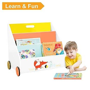 labebe - Bücherregal Kinder, Regal Kinderzimmer Holz, Bücherregal ...