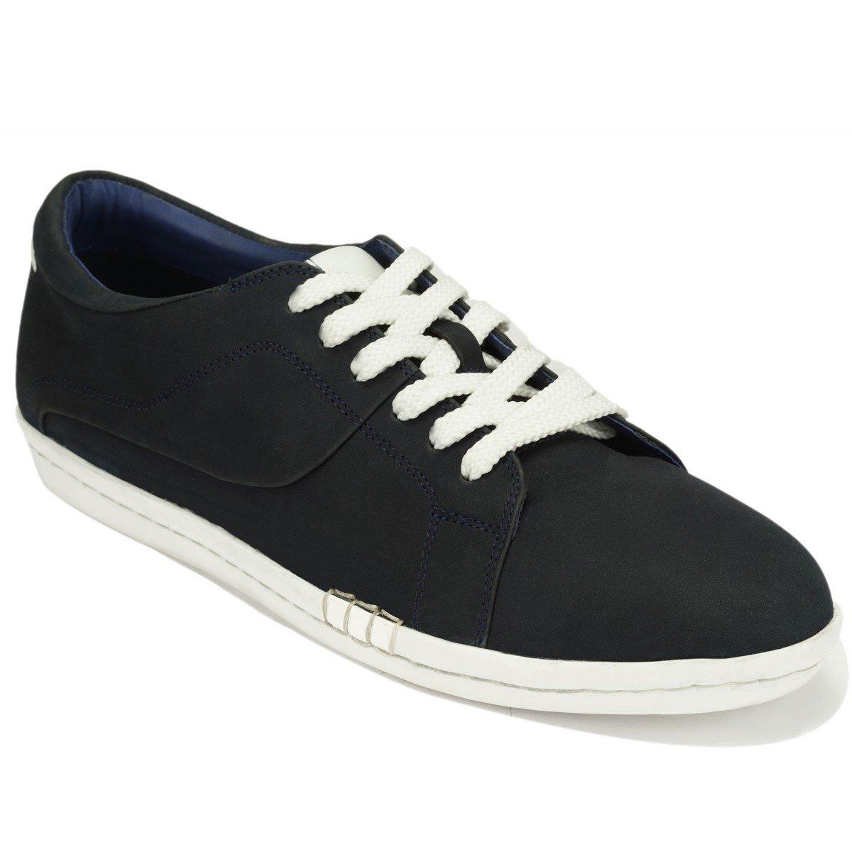 Scottwilliams Amati Premium - Zapatillas de Deporte de Cuero para Hombre P41|Azul Marino
