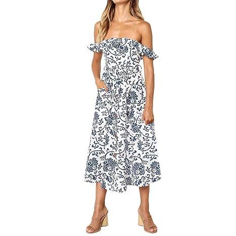 Go First Vestido De Moda De Verano para Mujer Vestido Sexy ...