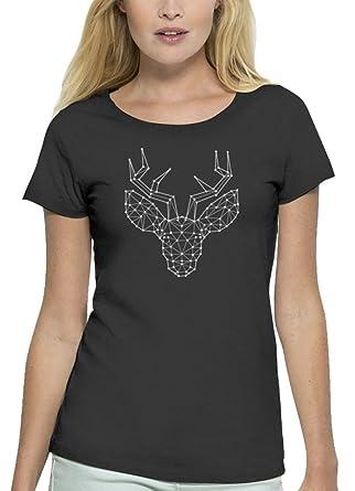 Weihnachten Premium Damen T-Shirt aus Bio Baumwolle Polygon Rentier Stanley  Stella: Amazon.de: Bekleidung