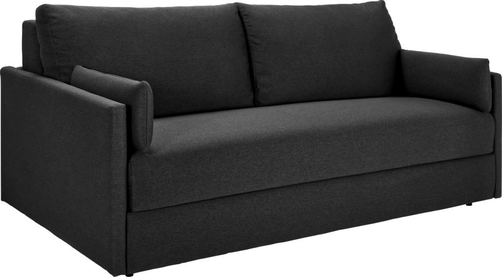 Stupendous Habitat Carl 3 Seater Sofa Bed In Fabric Charcoal Grey Caraccident5 Cool Chair Designs And Ideas Caraccident5Info