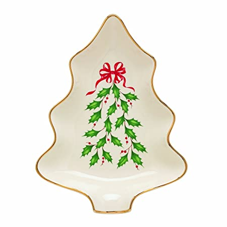 Amazon Com Lenox Holiday Tree Dish Candy Dishes Candy Dishes