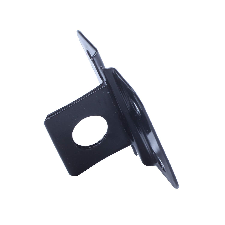 Cikuso 1 Set Black Metal Cabinet Gates Padlock Latch Door Hasp Staple