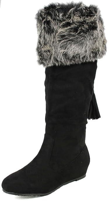 Amazon.com | Wild Diva Women's Candies 154 Faux Smooth Suede Knee ...