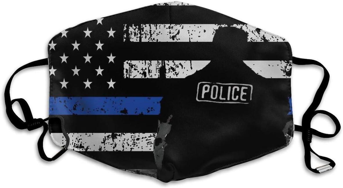 Máscaras para la Boca, mascarilla Antipolvo y máscaras amigables con la Piel, respirador de Aire Respirable de Seguridad Bandera de béisbol Estadounidense Negro Blanco
