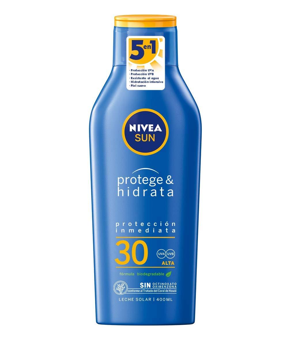 NIVEA SUN Protege & Hidrata Leche Solar FP30 (1 x 400 ml ...