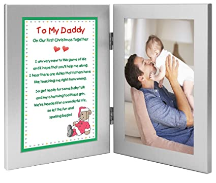 Amazon.com - New Father Christmas Gift - Christmas Poem From Baby to ...