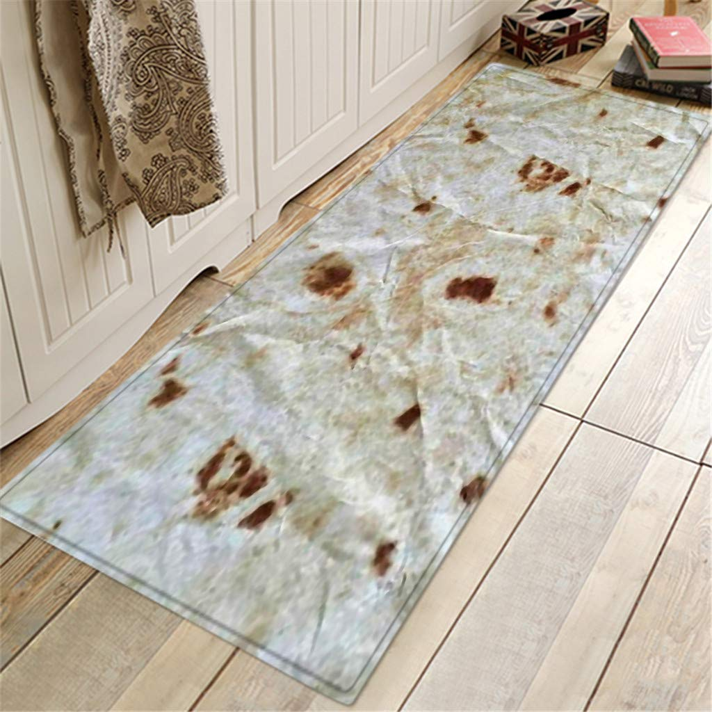 BCDshop Unique Burrito Area Rug Long Floor Mat Rectangle Doormat Indoor Child Play Carpet for Living Bedroom Sofa (A, 1.3ft X 3.9ft) by BCDshop_Rug Clearance (Image #2)