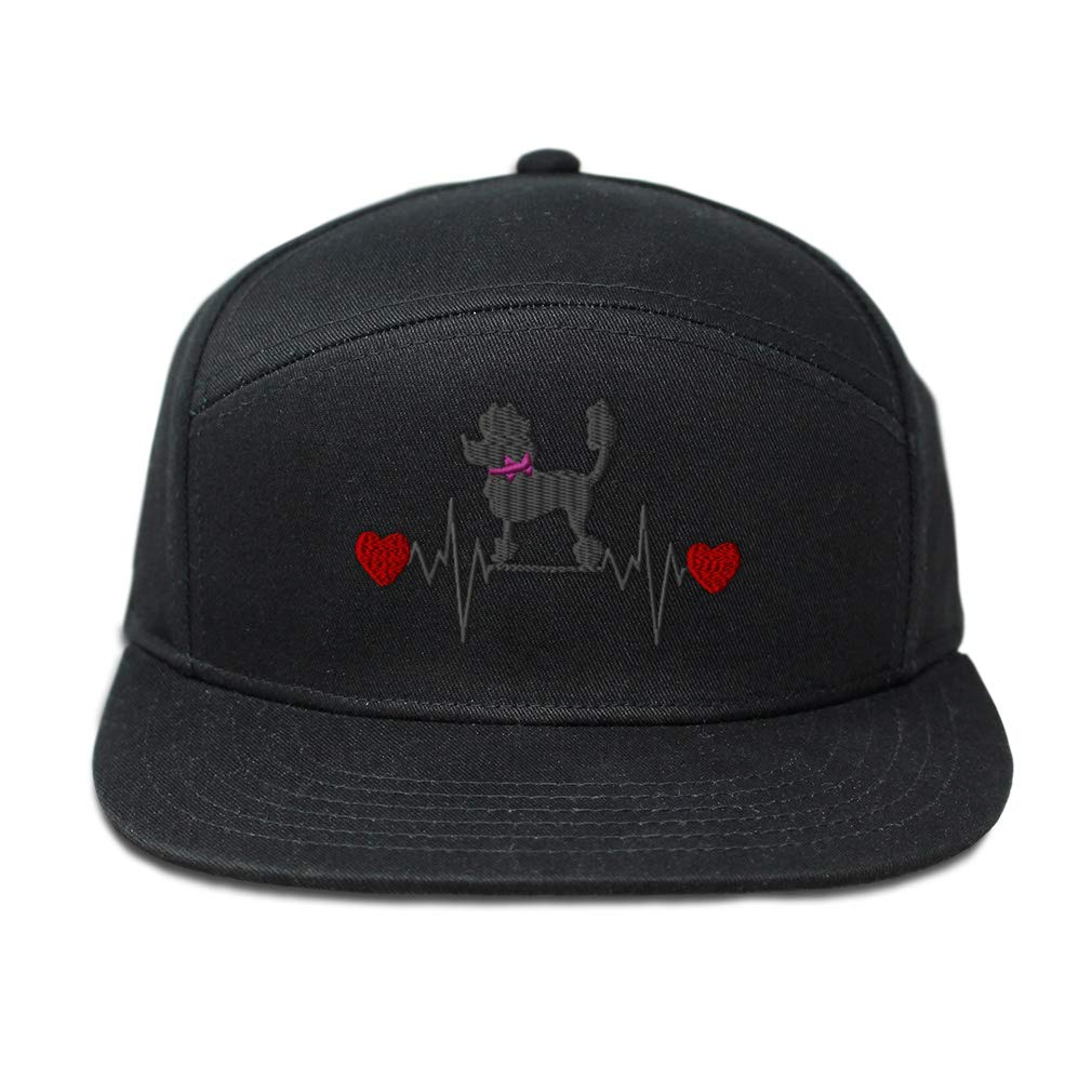 Snapback Hats for Men /& Women Dog Poodle Lifeline Embroidery Cotton Black