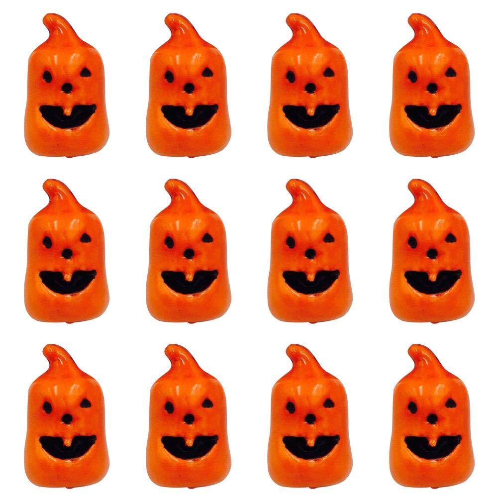 12PCS Artificial Pumpkin Halloween Small Foam Pumpkin Fake Fruit Home Decoration cheerfullus