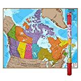 "Round World Products RWPHM06 Hemispheres Laminated Map, Canada, 47"" Height, 38"" Width"