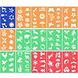 SUBANG 15 Pack Plastic Stencils Drawing Stencils Set Craft Educational Toys for Kids Crafts