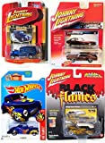 41 chevy truck - Johnny Lightning Triple Pack Black with Flames George Barris Phaeton / Muscle Cars USA 1971 Pontiac GTO /classic gold 1933 willys delivery 1/2500 Limited Edition Truck & Hot wheels '41 Flames