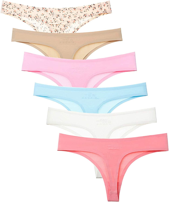 Cute Geometric Pattern Grey Seamless Underwear Invisible Bikini No Show Women Panties