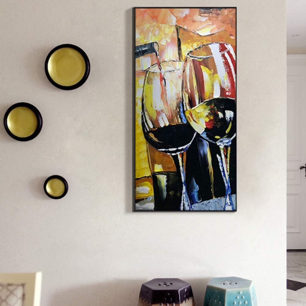 Contemporary Abstract Oil Drawings On Canvas Wall Art Simple Hand Painted Oil Painting Hang for Living Room Bedroom Kitchen Office Hotel Dinning Room Bar