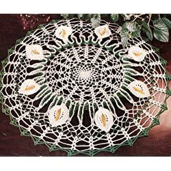 Vintage Crochet PATTERN to make - Calla Lily Doily Flower Motif. NOT a finished item. This is a pattern and/or instructions to make the item only.