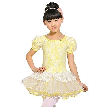 bd40cfef8 Amazon.com   Little Girls  Lace Tutu Dress Ballet Party Dress Short ...