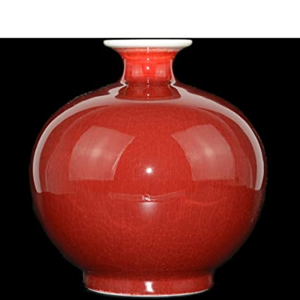 Amazon Wangs Ceramic Red Vase Ornaments Modern Minimalist Retro