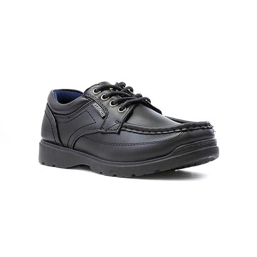 US Brass - Zapato acordonado, negro, para niño US Brass - Talla 13 Child UK / 32 EU - Negro