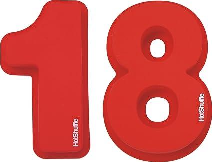 Gran número 18 de silicona Cake Molde de estaño 18 regalo de cumpleaños 1 8