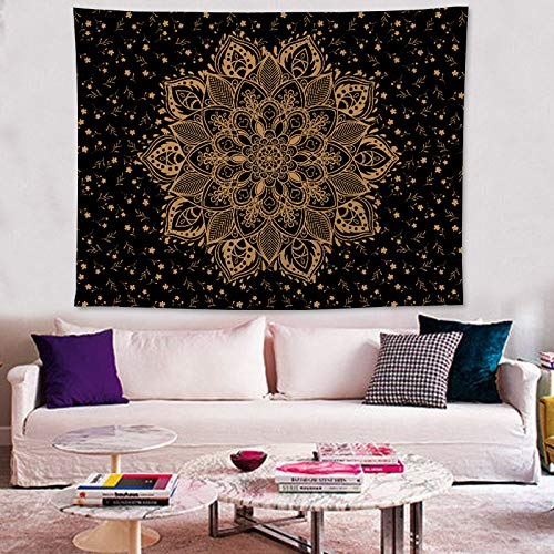 Zeronal Gold Passion Ombre Mandala Tapestry Boho Mandala Tapestry Wall Hanging Gypsy Tapestry Luxury
