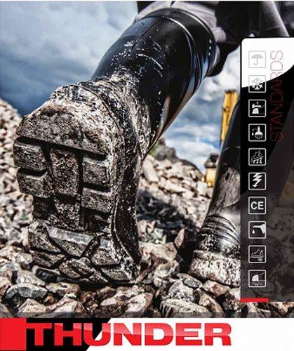 LEMIGO PU Sicherheitsstiefel S5 Arbeitsstiefel THUNDER Schwarz