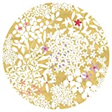 Entertaining with Caspari Floral Lace Salad/Dessert Plates, Gold, 8-Pack