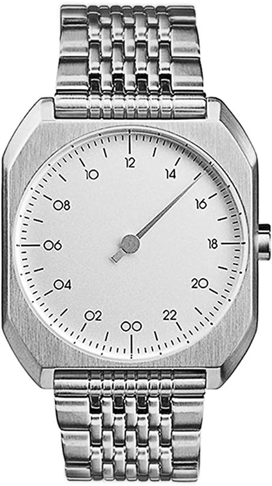 slow Mo 01 – Swiss Made one-hand 24 hour watch – Silver steel
