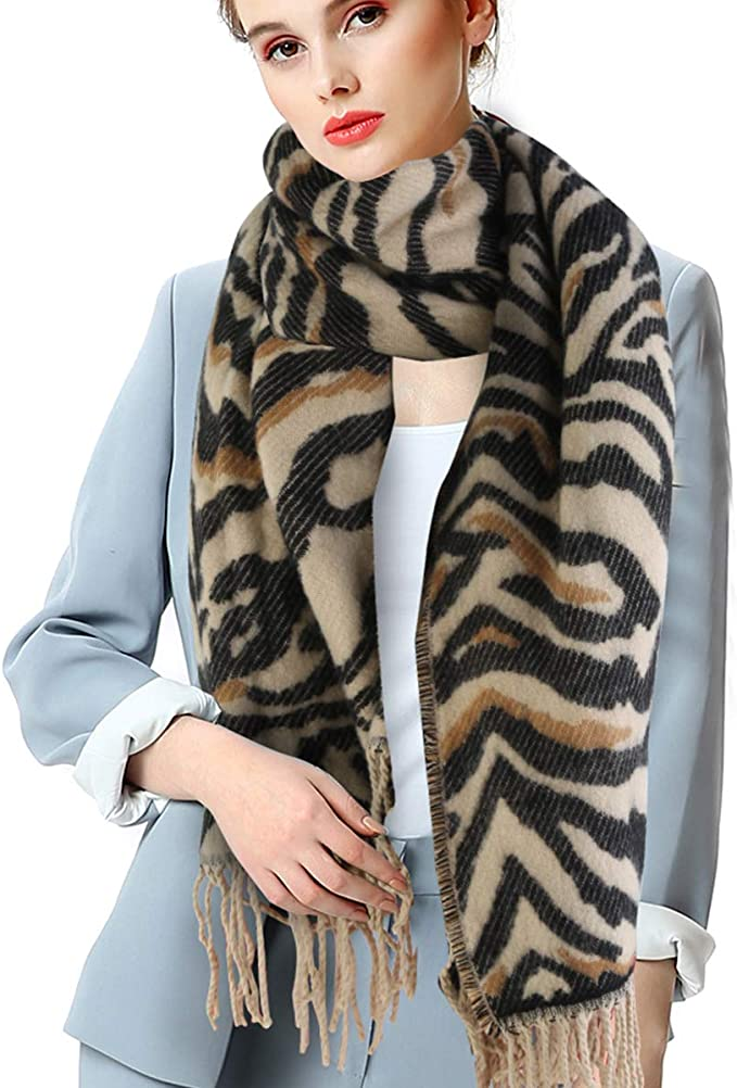 Valpeak Winter-Pashmina-Schal f/ür Damen Unisex Kaschmir-Decke mit Fransen Schal