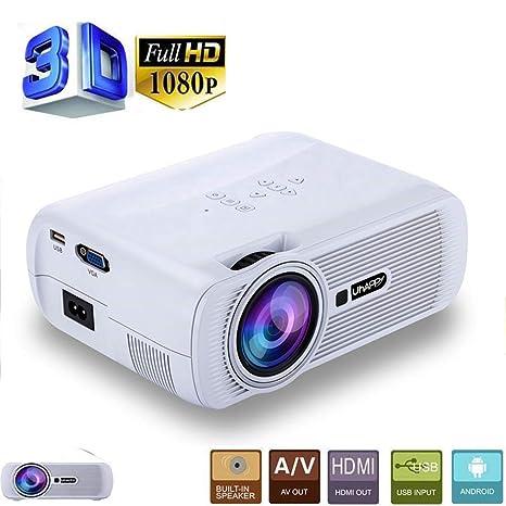 Konnison-1 Mini proyector de Video LED para películas, proyector ...