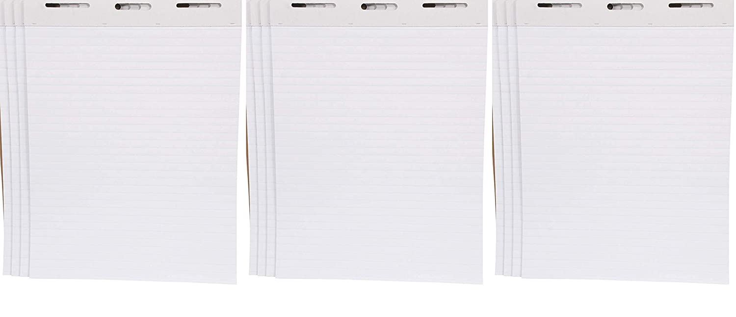50 Sheets School Smart Ruled Easel Pads 27 x 34 Inches White Тwo Рack Pack of 4-1467043