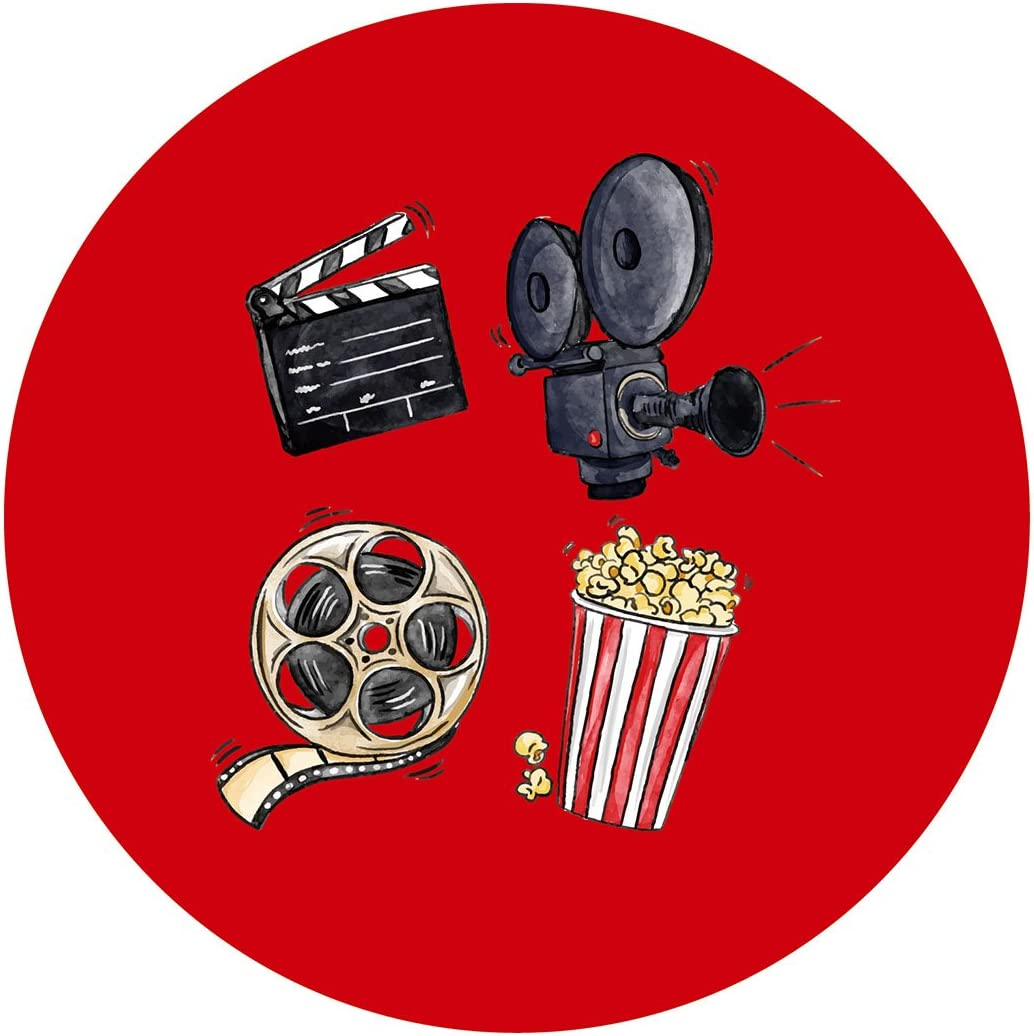 Amazon Com Magjuche Movie Night Stickers Cinema Theater Hollywood Themed Birthday Or Other Party Favor Sticker Labels 2 Inch 40 Pack Home Kitchen
