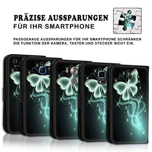 Wallet Book Style Flip Handy Tasche Case Schutz Hülle Schale Motiv Etui für Apple iPhone 6 Plus / 6S Plus - Design Flip MVD442