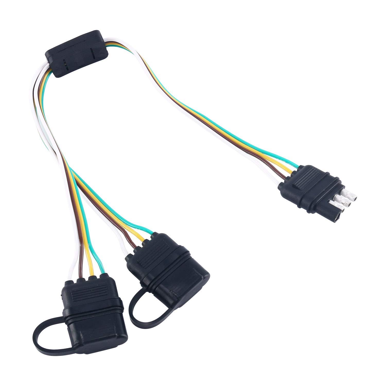 Yaekoo 4 Way Y Splitter Flat Trailer Wire Harness Extension Wiring Holder Keress