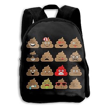 SARA NELL Mochila Escolar Infantil Poop Emoji Bolsa de Viaje para Preescolar, Jardín, Niños y Niñas: Amazon.es: Hogar