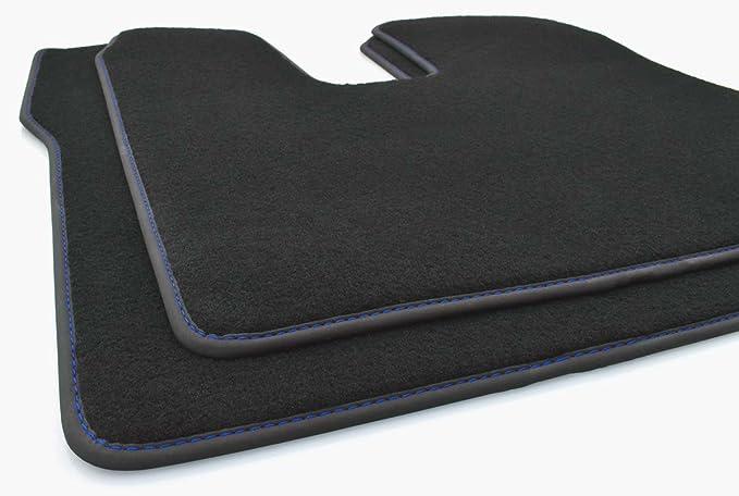Original Qualit/ät Autoteppich 2-Teilig Fahrer+Beifahrermatte Blaue Naht kh Teile LKW Fu/ßmatten Man TGX