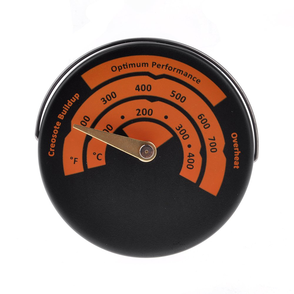 HuntGold Mini Point Magnetic Stove Thermometer Oven Temperature Meter Wood Burner Pipe Thermometer Home Kitchen Gauge