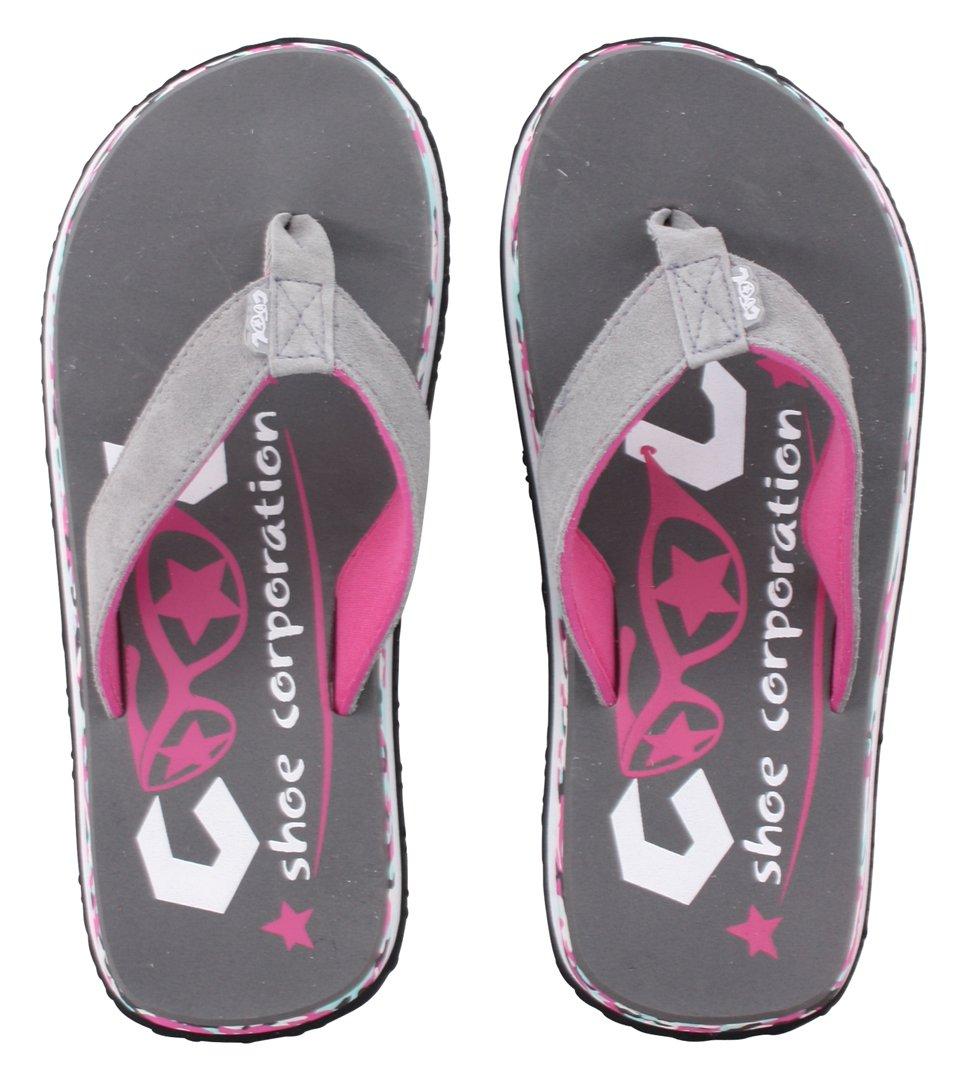 Cool Shoe Eve Slight Pi sandalias tipo hawaianas, color gris campanario - 35/36, gris, ante