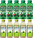 OKF Aloe Vera King Original & Coco Natural Drink 16.9-ounce Bottles