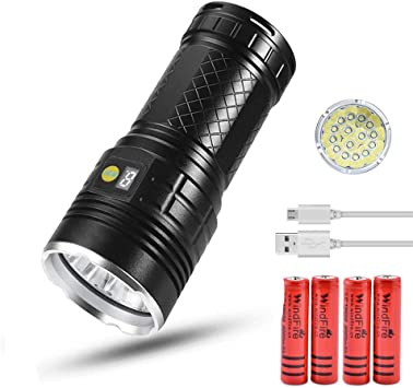 Rechargeable Led Torch Super Bright Flashlight Waterproof Handheld Camping Lamp