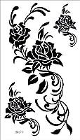 タトゥーシール 長持ち ボディーシール・刺青シール 薔薇 バラ トライバル TATTOO /hm273/