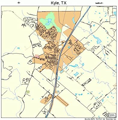 Map Of Texas Kyle.Amazon Com Large Street Road Map Of Kyle Texas Tx Printed